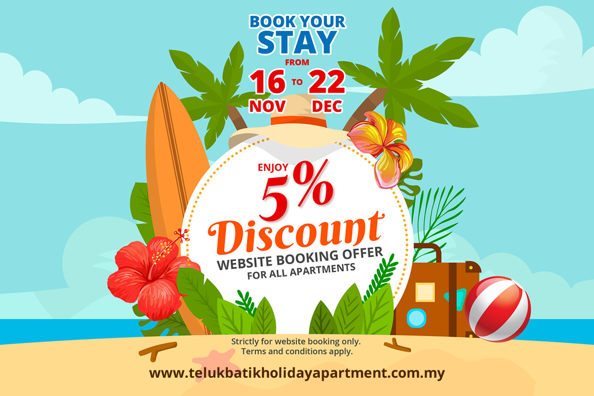 2018 Nov-Dec 5% Discount Online Booking