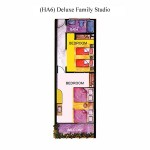 (HA6) Deluxe Family Studio Floor Plan