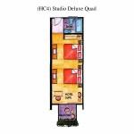 (HC4) Studio Deluxe Quad Floor Plan