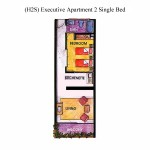 (H2S) Executive Apartment 2 Single Bed Floor Plan